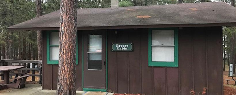 seasonal cabin for rent