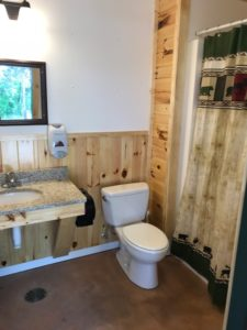 Big Pines RV Resort private bathrooms