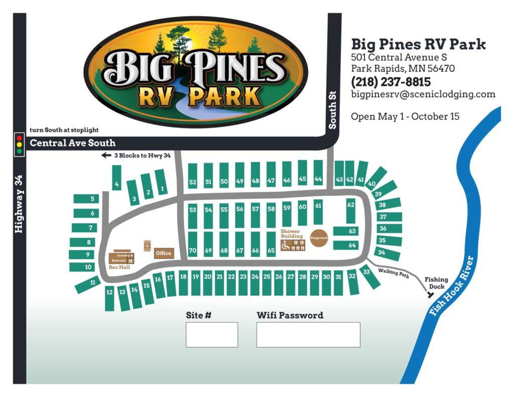 Big Pines Resort Map